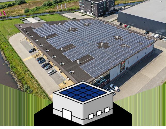 Zonnepanelen op uw platte dak